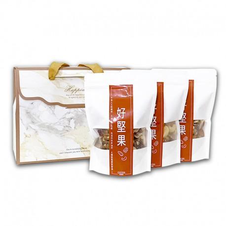年節禮盒送澎湃營養:六合一綜合堅果(3入禮盒裝)