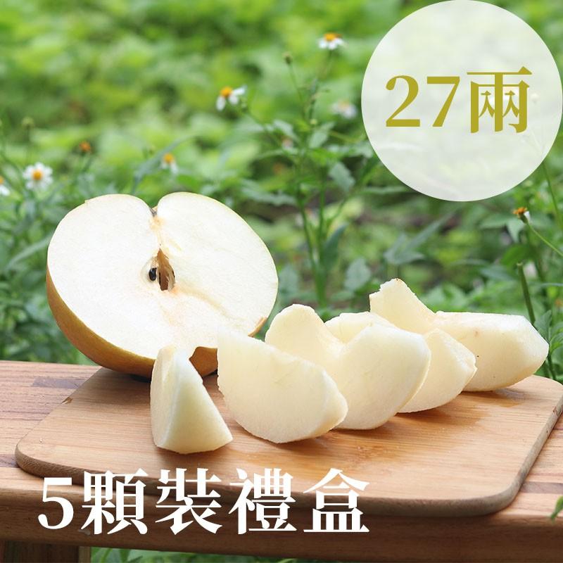 【豐碩之梨】寶島甘露梨(27兩)-5顆裝禮盒