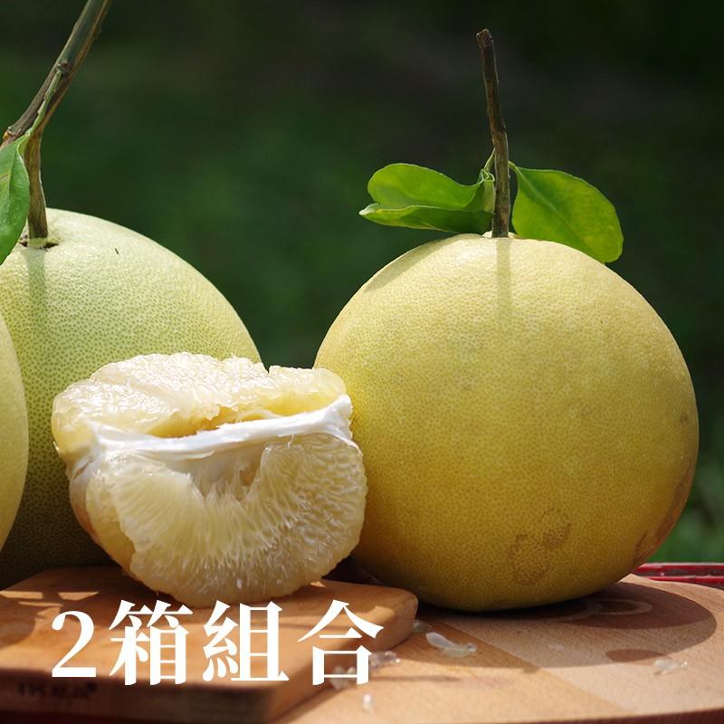 【柚見好秋】台南麻豆大白柚(10台斤裝)-兩箱優惠組