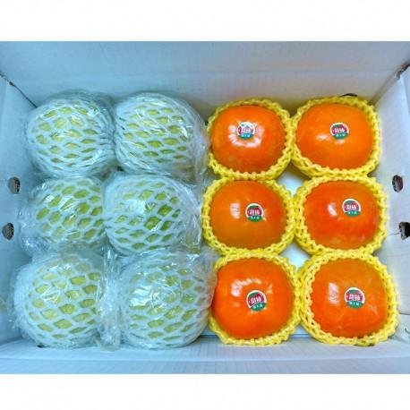 台中摩天嶺-珍珠芭樂(6顆) + 10A富有甜柿(6顆)