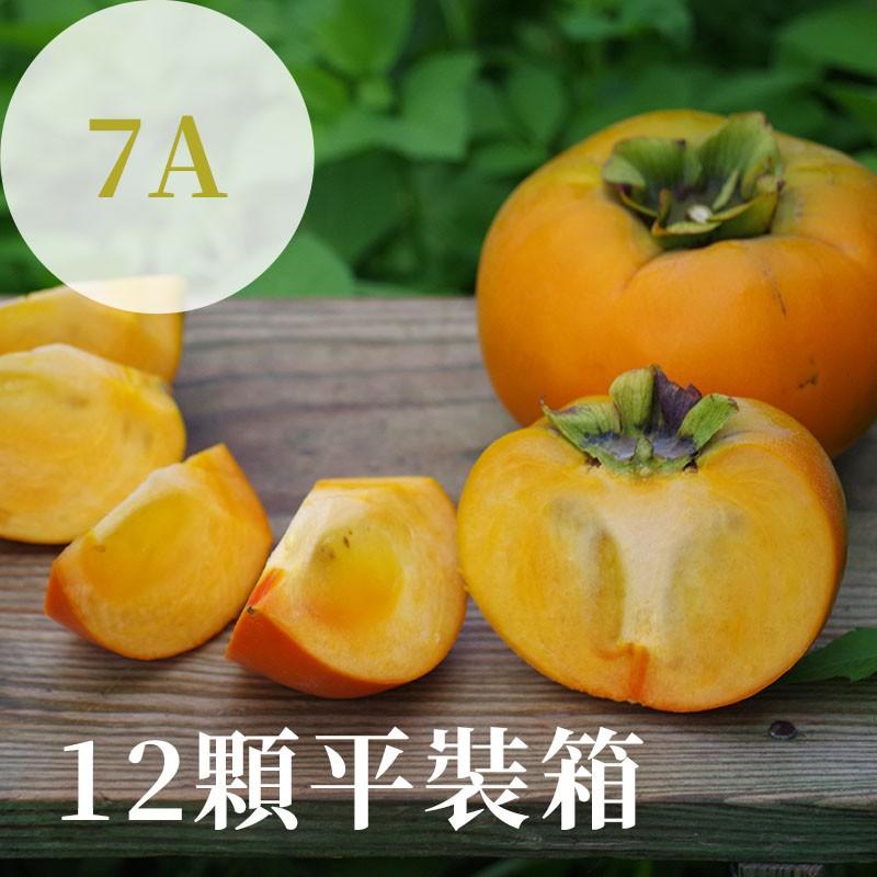 【秋紅柿務所】富有甜柿(7A)-12顆平裝箱