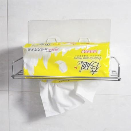304不鏽鋼面紙架(下抽):免鑽牆、免組裝、不傷牆面