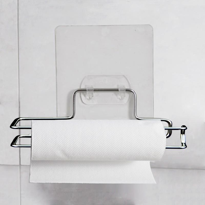 304不鏽鋼廁所捲筒紙架:免鑽牆、免組裝、不傷牆面