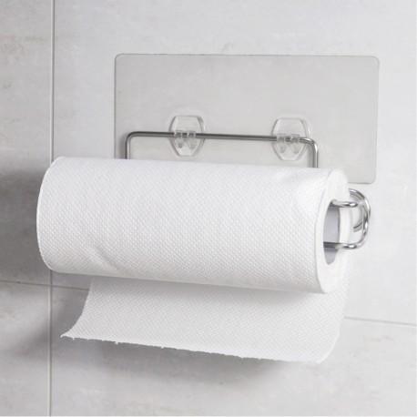 304不鏽鋼餐巾捲筒紙架:免鑽牆、免組裝、不傷牆面