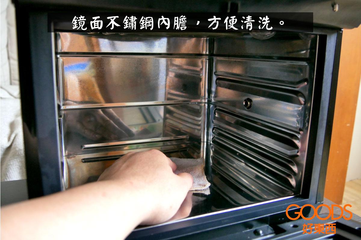 鏡面不鏽鋼內膽,方便清洗